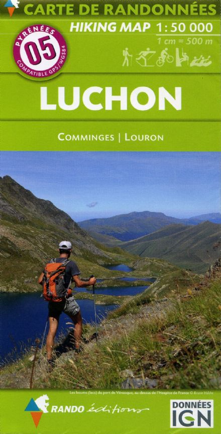 Rando Editions 1:50,000 Walking Map Of the Pyrenees Map 05 - Luchon
